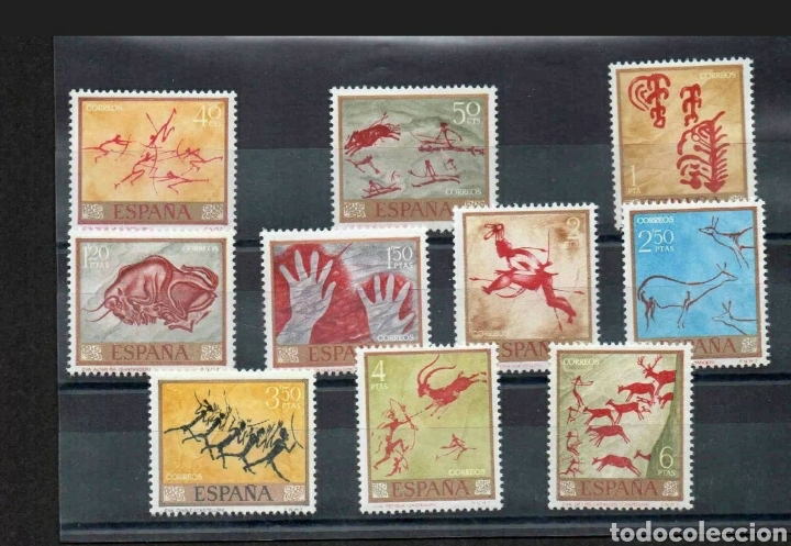 SELLOS ESPAÑA - 1967 DÍA DEL SELLO PINTURAS RUPESTRES EN CONDICIÓN ESTAMPILLADA SIN MONTAR O NUN (Sellos - Temáticas - Arte)