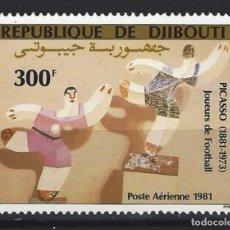 "Francobolli: PICASSO / DJIBOUTI 1981 - ""JUGADORES DE FÚTBOL"", AÉREO - SELLO NUEVO SIN GOMA. Lote 213847687"