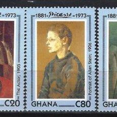 Francobolli: PICASSO / GHANA 1993 - 20º ANIVERSARIO DE LA MUERTE DEL PINTOR, S.COMPLETA - SELLOS NUEVOS **. Lote 213847788