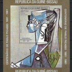 Francobolli: PICASSO / GUINEA BISSAU 1981 - HB CENTENARIO DEL NACIMIENTO DEL PINTOR - HOJA NUEVA **. Lote 213848416