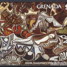 Francobolli: PICASSO / GRANADA 1981 - HB CENTENARIO DEL NACIMIENTO DEL PINTOR - HOJA NUEVA ** SIN DENTAR. Lote 213849671