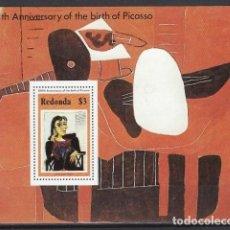Francobolli: PICASSO / REDONDA 1981 - HB CENTENARIO DEL NACIMIENTO DEL PINTOR - HOJA NUEVA **. Lote 213849902