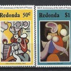 Francobolli: PICASSO / REDONDA 1981 - CENTENARIO DEL NACIMIENTO DEL PINTOR, S.COMPLETA - SELLOS NUEVOS **. Lote 213849936