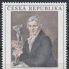 Sellos: REPUBLICA CHECA Nº 98, ANTONÍN MACHEK:J. MALINSKI (GALERIA NACIONAL DE ARTE DE PRAGA), NUEVO ***. Lote 214271077