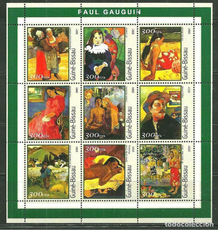 GUINEA BISSAU 2001 IVERT 993/1001 *** ARTE - PINTURA DE PAUL GAUGUIN (Sellos - Temáticas - Arte)