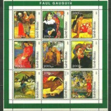 Sellos: GUINEA BISSAU 2001 IVERT 993/1001 *** ARTE - PINTURA DE PAUL GAUGUIN. Lote 214840496