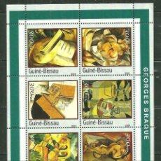 Sellos: GUINEA BISSAU 2001 IVERT 1031A/F *** ARTE PINTURA DE GEORGES BRAQUE. Lote 215462206
