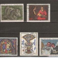 Sellos: FRANCIA.1966. YV Nº 1478,1479,1492,1493,1494. ARTE. Lote 215605195
