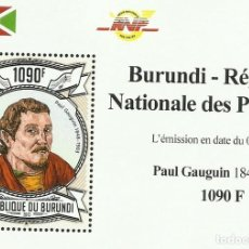 Sellos: BURUNDI 2013 HOJA BLOQUE SELLOS ARTE PINTURA IMPRESIONISTA AMERICANOS- PAUL GAUGUIN IMPRESIONISMO. Lote 217035473