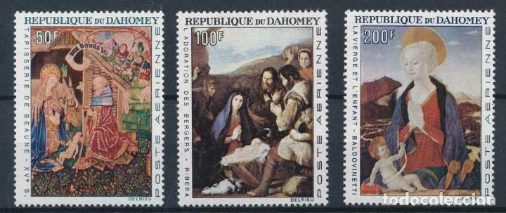 DAHOMEY 1966 AEREO IVERT 50/2 *** TAPICERÍA Y PINTURA - BEAUNE - RIVERA Y BALDOVINETTI - ARTE (Sellos - Temáticas - Arte)