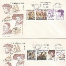 Sellos: EDIFIL 2460/8, CENTENARIO DE JUAN DE JUNI, RUBENS Y TIZIANO, PRIMER DIA 28-3-1978 3 SOBRES DEL SFC. Lote 278929548