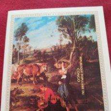 Sellos: HOJA DE BLOQUE ARTE RUBÉNS, CON GOMA. Lote 220071055