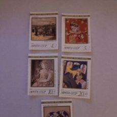 Sellos: SELLOS RUSIA 1989 OBRAS MAESTRAS DEL FONDO CULTURAL SOVIÉTICO. Lote 220118380