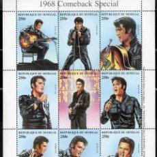 Sellos: SENEGAL/1999/MNH/SC#1350/ ELVIS PRESLEY / CANTANTE DE ROCK / HISTORIA DE LA MUSICA. Lote 221340612