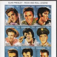 Sellos: TANZANIA/1992/MNH/SC#808/ ELVIS PRESLEY / ROCK / CANTANTE. Lote 221340980