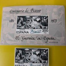 Sellos: EL GUERNICA PABLO PICASSO ESPAÑA 1980 EDIFIL 2631 FILATELIA COLISEVM. Lote 221439971