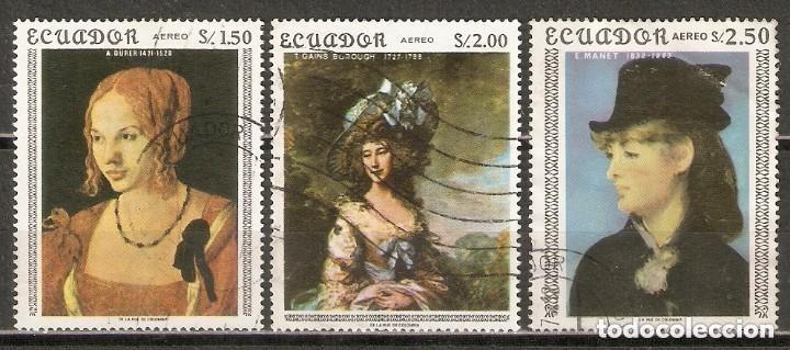 ECUADOR. AÉREO.1967. Nº 491,492,493. ARTE.PINTURA. (Sellos - Temáticas - Arte)