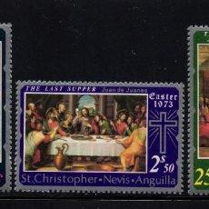 Sellos: SAN KITTS 276/78* - AÑO 1973 - PINTURA RELIGIOSA - PASCUA. Lote 222055058