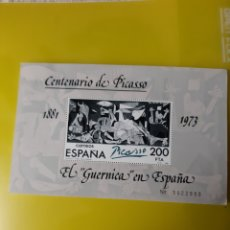 Sellos: 1981 PICASSO ARTE PINTURA EL GUERNICA CENTENARIO HOJA BLOQUE NUEVO O USADA EDIFIL 2631 ESPAÑA. Lote 222194198