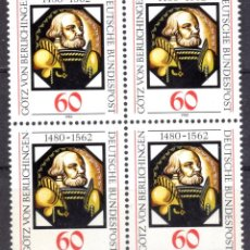 Sellos: ALEMANIA FEDERAL /1980/MNH/SC#1324/ GOTZ VON BERLICHINGEN PINTURA SOBRE VIDRIO / ARTE / BLOQUE. Lote 222236280