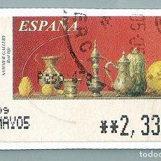 Sellos: SAMMER GALLERY. RED LIFE (VARIANTE 1) - SERIE OBRAS DE JUAN CARLOS OSPINA, ESPAÑA, 2005   SELLO ATM. Lote 54377595