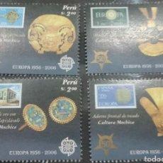 Sellos: SELLOS DE PERU NUEVOS/2005/SELLO/S/ADORNO/TESORO/CEREMONIA/RELIGUIAS/50ANIV/1A/SERIE/EUROPA/ARTESANI. Lote 222279432