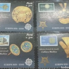 Sellos: SELLOS DE PERU NUEVOS/2005/SELLO/S/ADORNO/TESORO/CEREMONIA/RELIGUIAS/50ANIV/1A/SERIE/EUROPA/ARTESANI. Lote 222279575