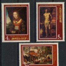 Sellos: RUSIA 1987 IVERT 5409/13 *** ARTE - MUSEO ERMITAGE EN LENINGRADO - CUADROS DE PINTORES EUROPEOS. Lote 224085426