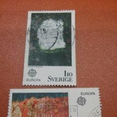 Sellos: SELLOS SUECIA (SVERIGE) MTDOS/1975/EUROPA/CEPT/PINTUTA/CUADROS/ARTE/BOSQUE/FLORA/PROCESION/. Lote 231026525