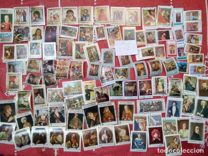 PIN7-LOTE 100 SELLOS DIFERENTES PINTURAS ARTE, ALTO VALOR Y CALIDAD.FOTO REAL.GRAN FORMATO. LOT 100 (Sellos - Temáticas - Arte)
