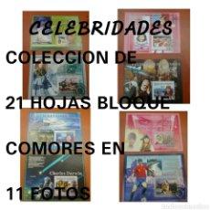 Sellos: COLECCION 21 HB U. COMORAS (COMORES) MTDOS/2009/CELEBRIDADES/TRASPORTES/INVENTORES/ACTORES/ARTE/MUSI. Lote 233024355