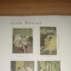 Sellos: 4 SELLOS EDGAR DEGAS. MUSEE D'ORSAY. PARÍS. STAMP. 1998. Lote 235672820