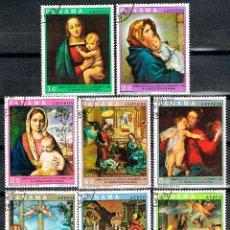 Sellos: PANAMA Nº 1123, VISITA DE PABLO VI AL CONGRESO EUCARISTICO, CUADROS, USADO, SERIE CORTA. Lote 239468065
