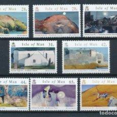 Sellos: ISLA DE MAN 2007 IVERT 1386/93 *** ARTE - CUADROS DE NORMAN SAYLE - PINTURA. Lote 240499705