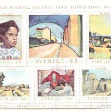 Sellos: 1969 SUECIA CENTENARIO DEL NACIMIENTO DE IVAN AGUELI HOJA BLOQUE NUEVA **. Lote 240583930