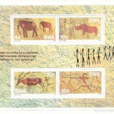 Sellos: 1976 ÁFRICA DEL SUDOESTE PINTURES RUPESTRES HOJA BLOQUE NUEVA **. Lote 240592095