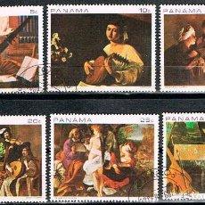 Sellos: PANAMÁ Nº 1163/8, LA MÚSICA EN EL ARTE, USADO (SERIE COMPLETA). Lote 241011265