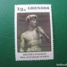 Sellos: *GRENADA, 500 ANIVERSARIO DEL NACIMIENTO DE MIGUEL ANGEL. Lote 243915240