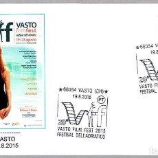 Sellos: MATASELLOS VASTO FILM FEST - FESTIVAL DE CINE. VASTO, ITALIA, 2015. Lote 244590240
