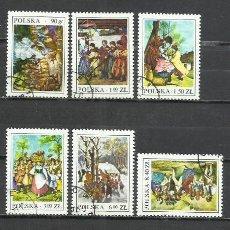 Sellos: 2705-POLONIA SERIE COMPLETA PINTURA ARTE 1977 Nº 2338/43, MUY BONITOS. Lote 244739120