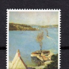 Sellos: AUSTRALIA 654** - AÑO 1979 - PINTURA - OBRA DE SIR ARTHUR STREETON. Lote 245064075
