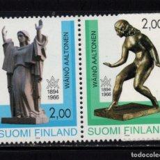 Sellos: FINLANDIA 1209A** - AÑO 1994 - CENTENARIO DEL NACIMIENTO DEL ESCULTOR WAINO AALTONEN. Lote 245443410