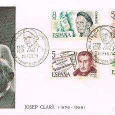 Sellos: EDIFIL 2456/9, HOMENAJE A CLARA, MATASELLO DE BARCELONA COINCIDENTE CON PRIMER DIA 28-2-1978. Lote 246918690
