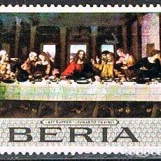 Timbres: LIBERIA IVERT Nº 469, LA ULTIMA CENA DE LEONARDPO DA VINCI, UISADO. Lote 251015825