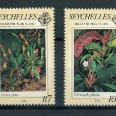 Sellos: SEYCHELLES 1983 IVERT 535/8 *** FLORA - PINTURAS DE MARIAN NORTH - ARTE. Lote 252032585
