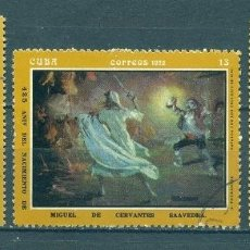 Timbres: ⚡ DISCOUNT CUBA 1972 THE 425TH ANNIVERSARY OF THE BIRTH OF CERVANTES - PAINTINGS BY A. FERNAND. Lote 253834815