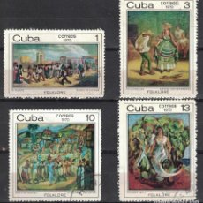 Sellos: ⚡ DISCOUNT CUBA 1970 THE AFRO-CUBAN FOLKLORE PAINTINGS U - PAINTINGS, PAINTING. Lote 253847525