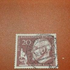 Sellos: SELLO ALEMANIA, BERLIN MTDOS/1960/ROBERT/KOCH/NOVEL/MEDICINA/TUBERCULOSIS/FAMOSO/CIENCIA/ARTE/MICROS. Lote 253906885