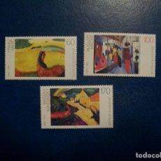 Timbres: LIQUIDACION-ALEMANIA-1992-SERIE COMPLETA EN NUEVO(**MNH)-PINTURA. Lote 254058245