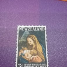 Sellos: SELLO NUEVA ZELANDA MTDOS/+/- S. BISAGRA/1966/NAVIDADES/ARTE/PINTURA/CUADRO/VRIGEN/MARATTA/RELIGION/. Lote 254060700